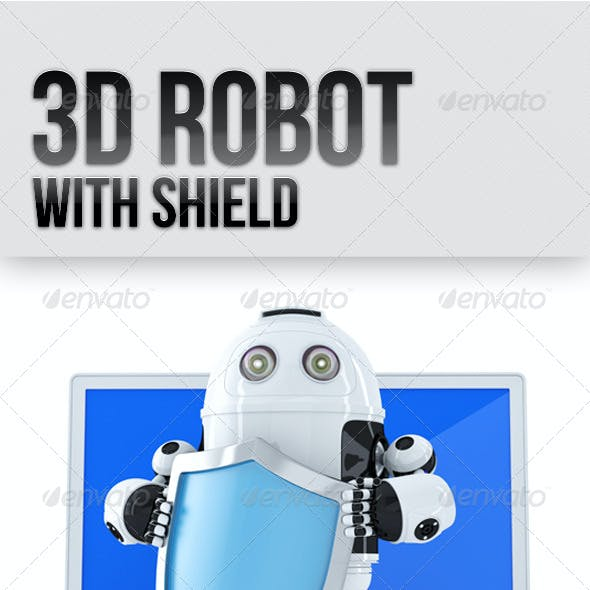 3D Robot with Shield