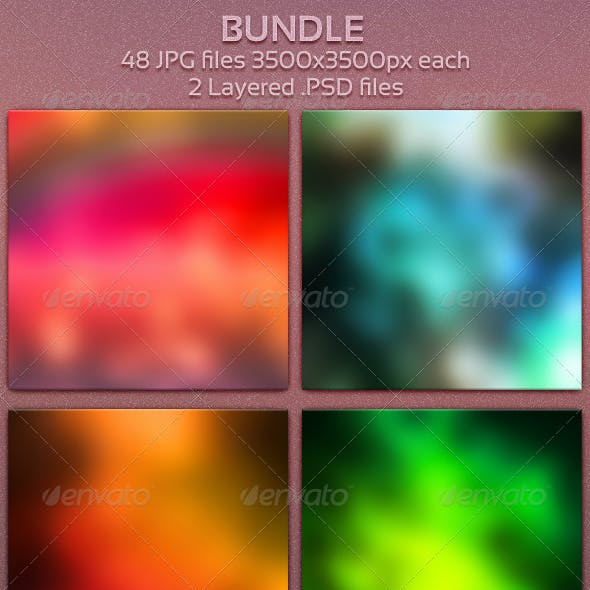 Blur Bundle 48 Blurred Backgrounds