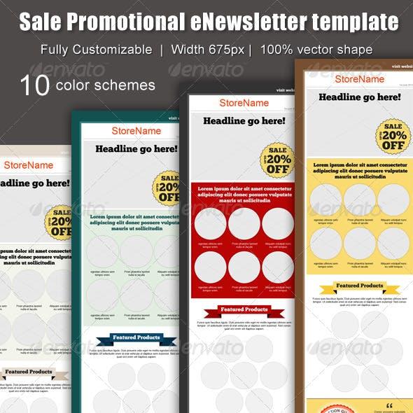 Sale Promotional eNewsletter Template