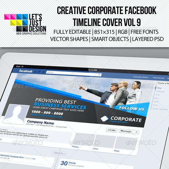 Creative Corporate Facebook Timeline Cover Vol 9