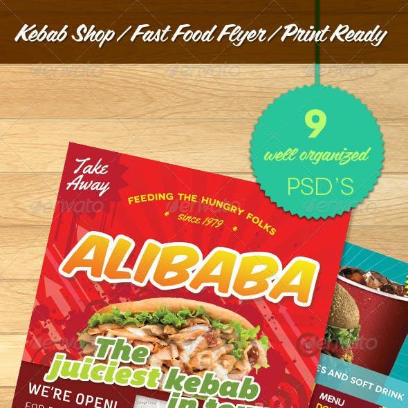Kebab Shop Fast Food Flyer