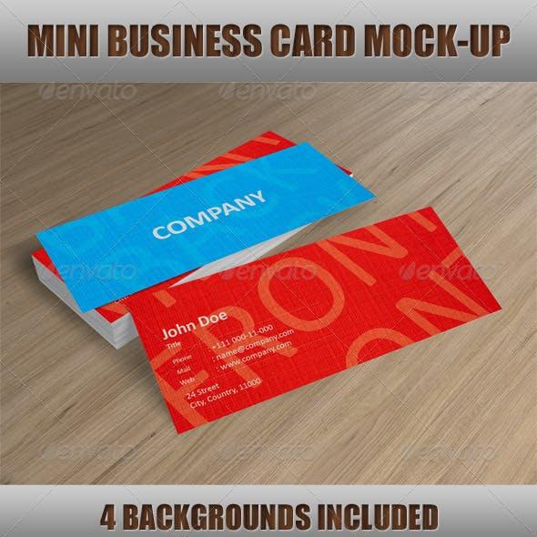 Mini Business Card Mock-Up