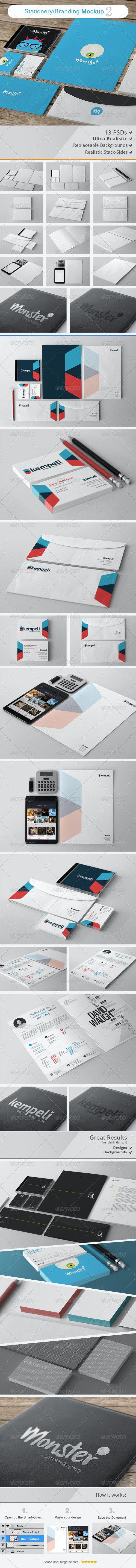 Stationery / Branding Mockups 2 - Stationery Print