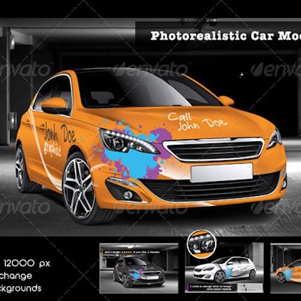 Photorealistic Car Mock-Up