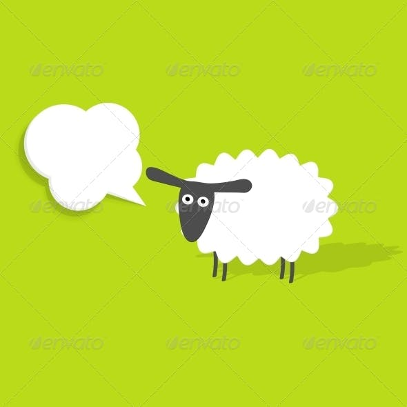 Sheep with Speech Bubble