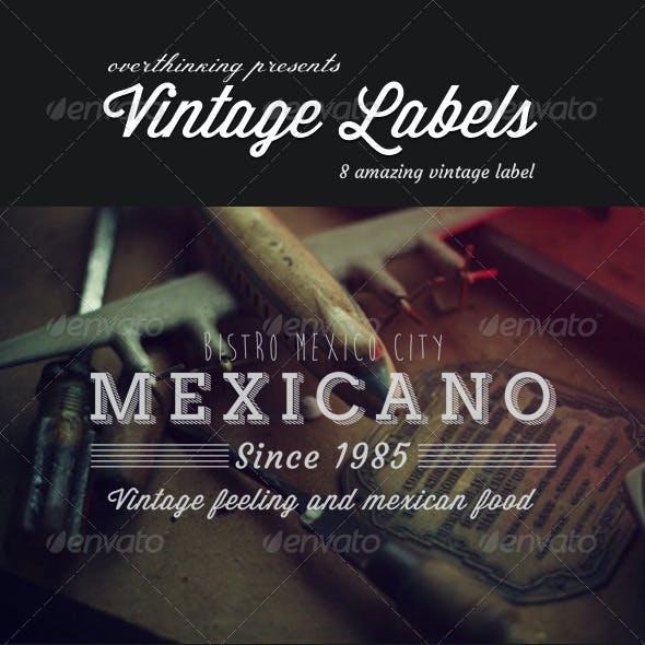 8 Vintage Badge - Label