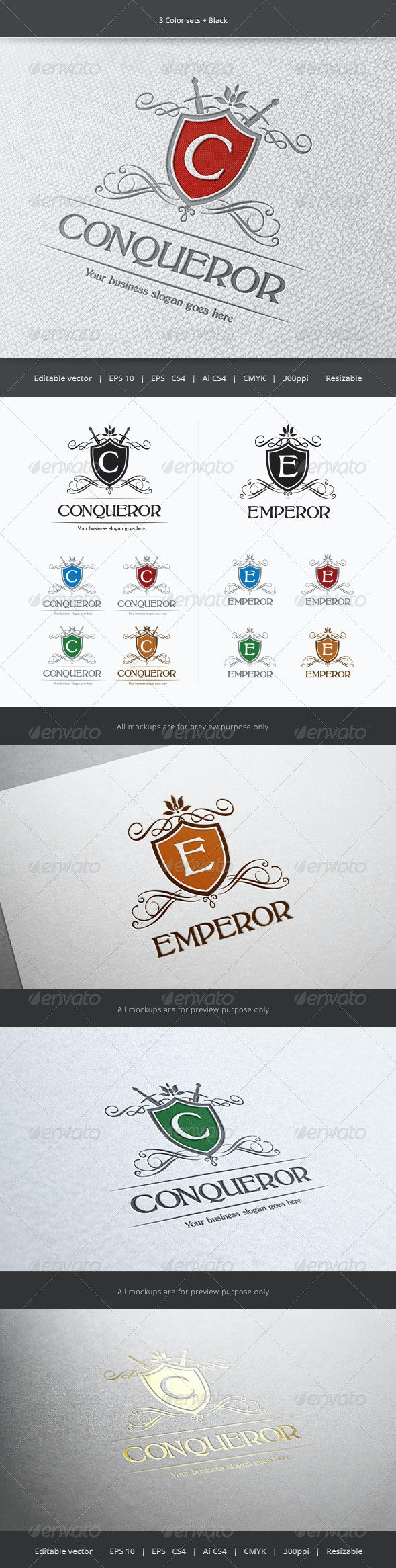 Conqueror Crest Logo - Crests Logo Templates