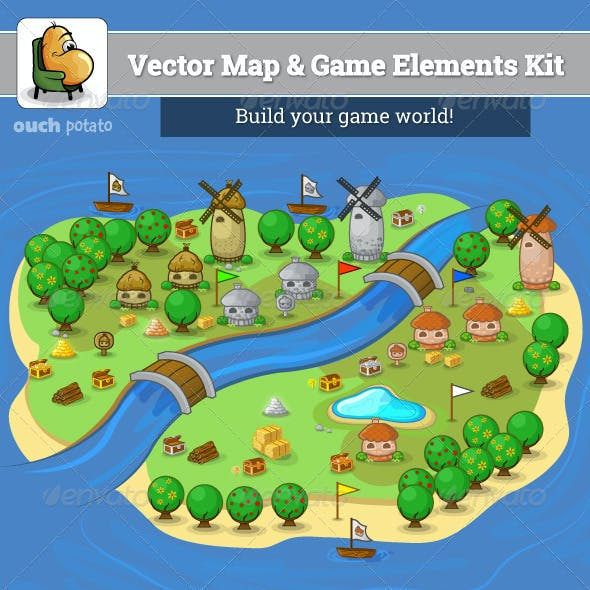 Vector Map and Game Elements Kit
