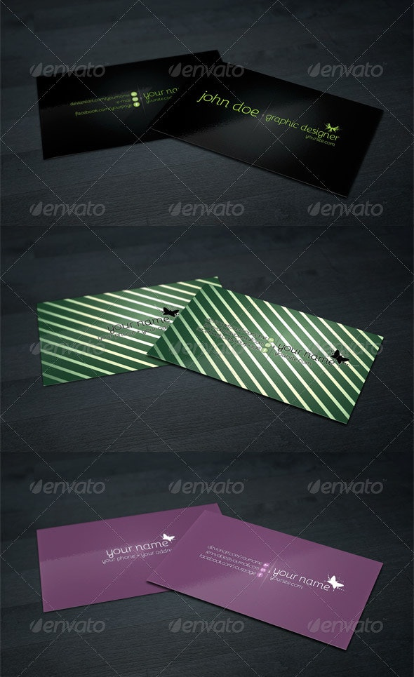 Business Card Pack - 3 Styles - Corporate Business Cards