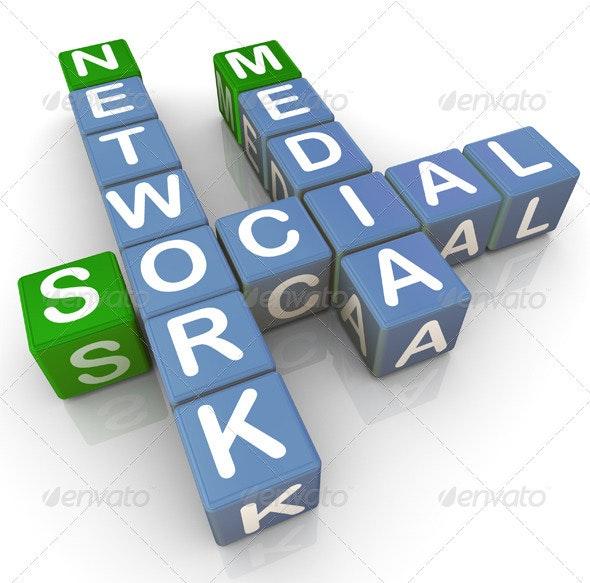 Social Media Network - 3D Backgrounds