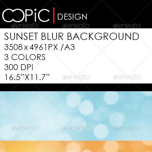 Sunset Blur Backround