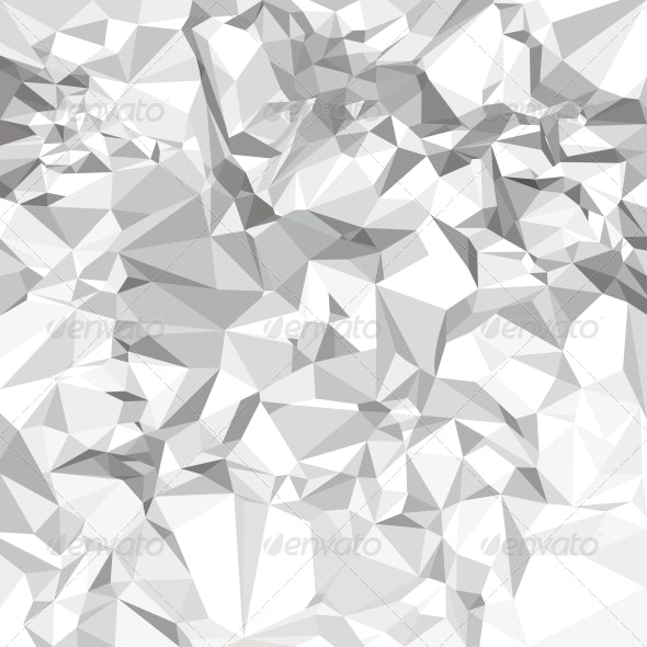 Abstract Vector Crumpled Paper Background - Backgrounds Decorative