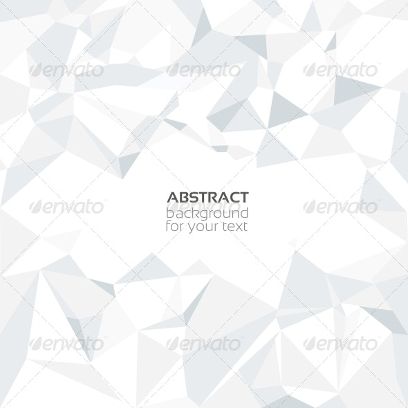 Abstract Vector Crumpled White Paper Background - Backgrounds Decorative