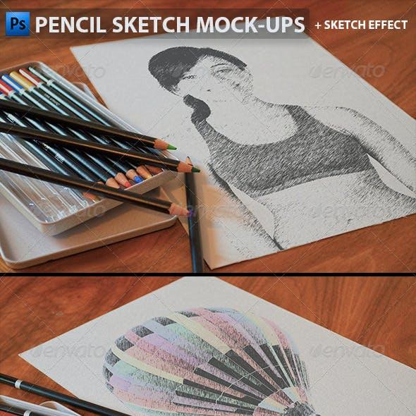 Pencil Sketch Mock-Ups