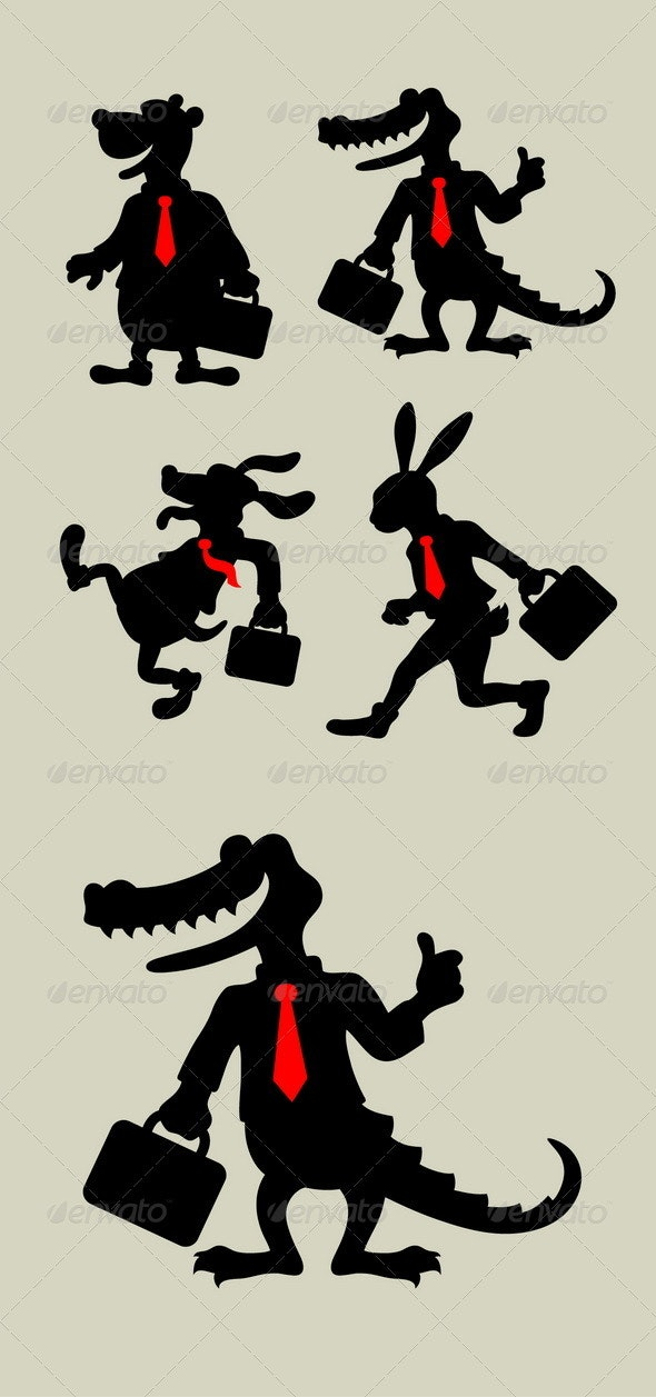 Animal Business Silhouettes - Concepts Business