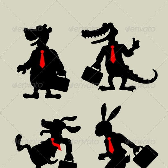 Animal Business Silhouettes