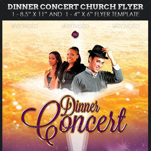 Dinner Concert Church Flyer Template