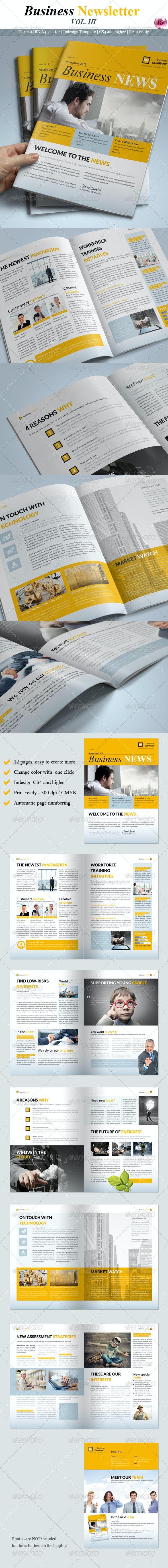 Business Newsletter Vol. III - Newsletters Print Templates