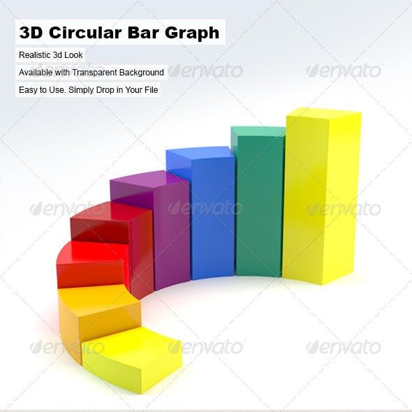 3D Circular Bar Graph