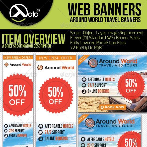 Around World Travel Web Banners