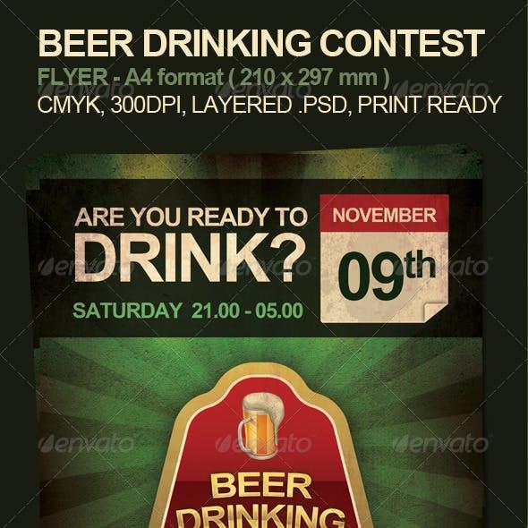 Beer Drinking Contest Flyer