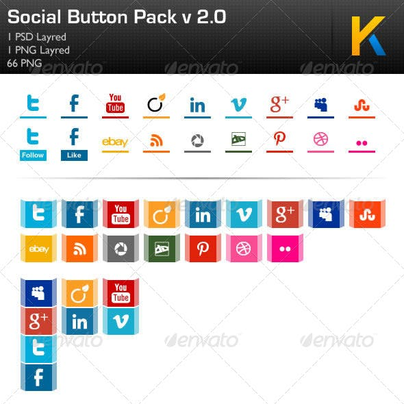 Social Button Pack v 2.0