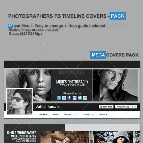 Photographers FB Timeline Covers - Pack