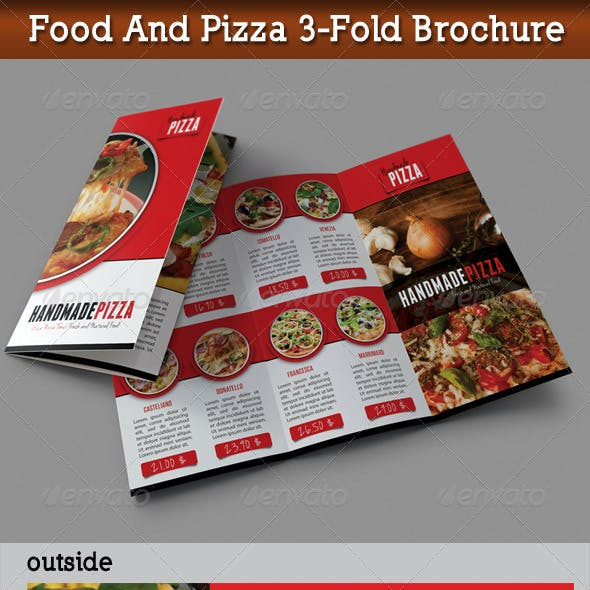 Food And Pizza 3-Fold Brochure 01