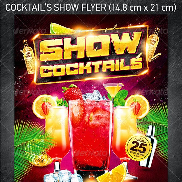 Cocktails Show Party Flyer