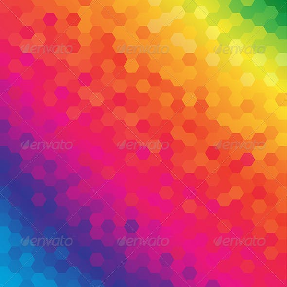 Colorful Honeycomb Pattern Background
