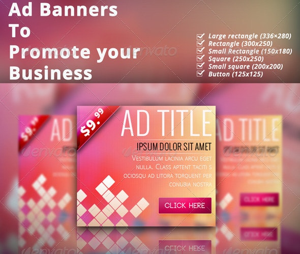 Multipurpose Corporate Banner Set Vol.7 - Banners & Ads Web Elements