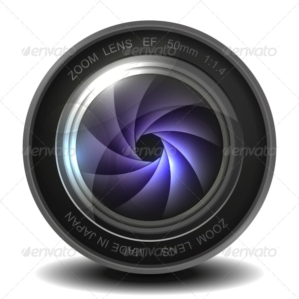 Camera Photo Lens with Shutter. - Media Technology