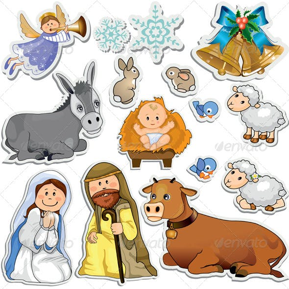 Nativity Scene Stickers