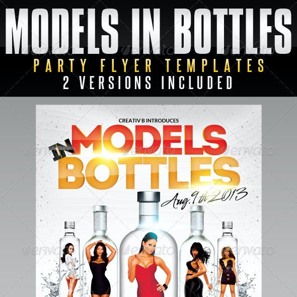 Models in Bottles Party Flyer Templates