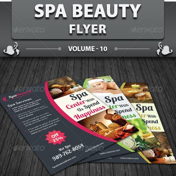 Spa & Beauty Saloon Flyer   Volume 10