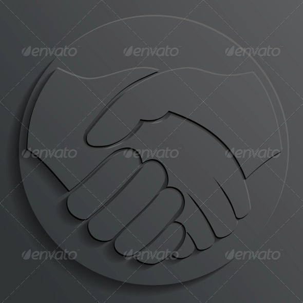 Handshake Icon Vector - Concepts Business