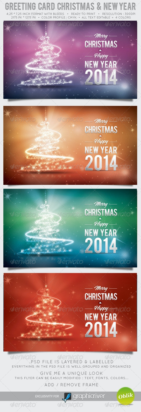 Greeting Card Christmas and New Year - Holiday Greeting Cards