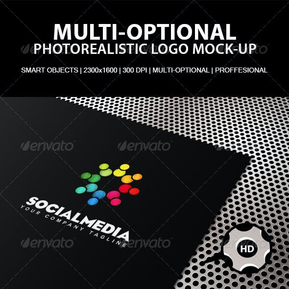 Multi-Optional Photorealistic Logo Mock-Up