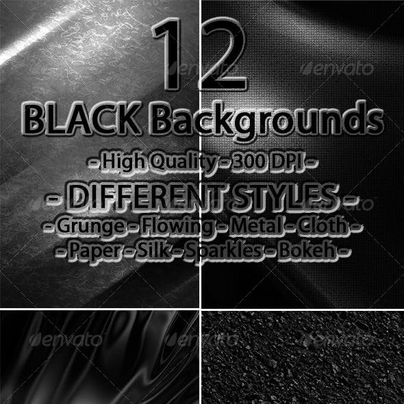 12 Black Backgrounds