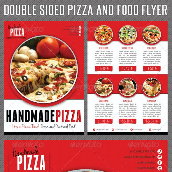 Food And Pizza Menu Flyer