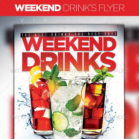Weekend Drinks Flyer