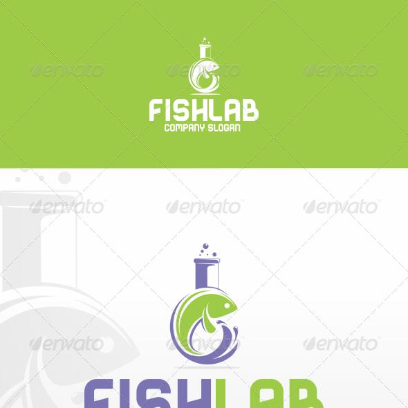 Fish Lab Logo Template