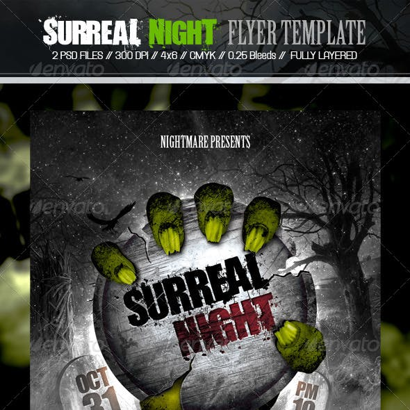 Surreal Night Flyer Template
