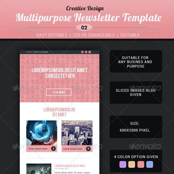 Creative Multipurpose Newsletter