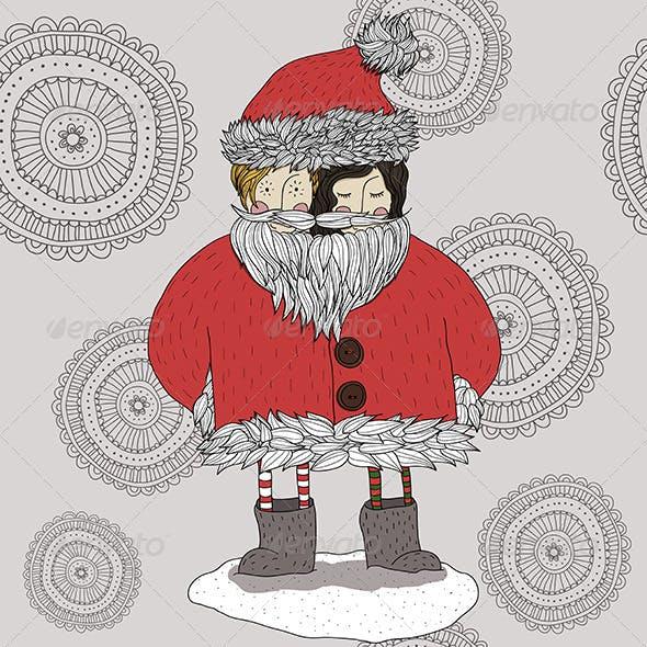 Kids in Santa Claus Costume
