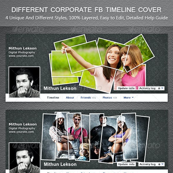 Different Corporate Facebook Timeline Cover