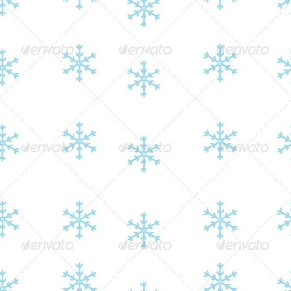 Vector Seamless Pattern of Snowflakes