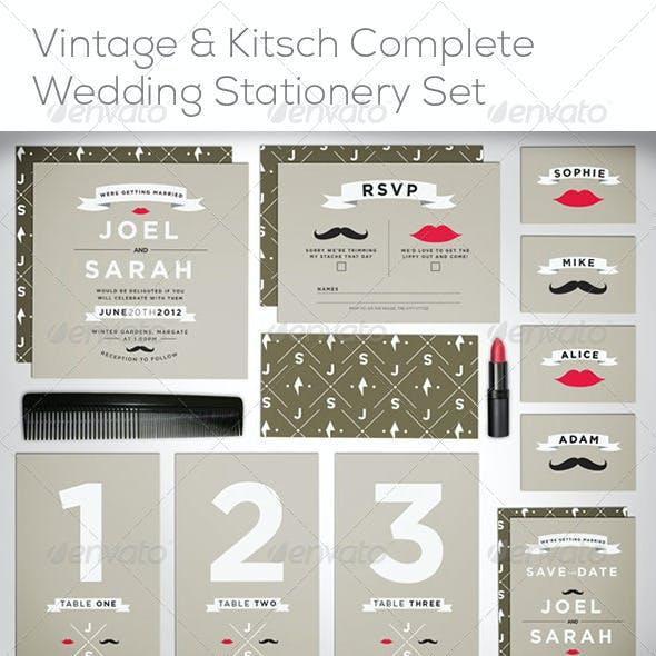 Stash & Kiss Wedding Stationery Invite Template