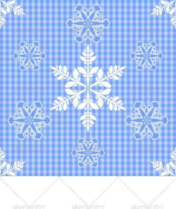 Vector seamless Christmas ornament - Backgrounds Decorative