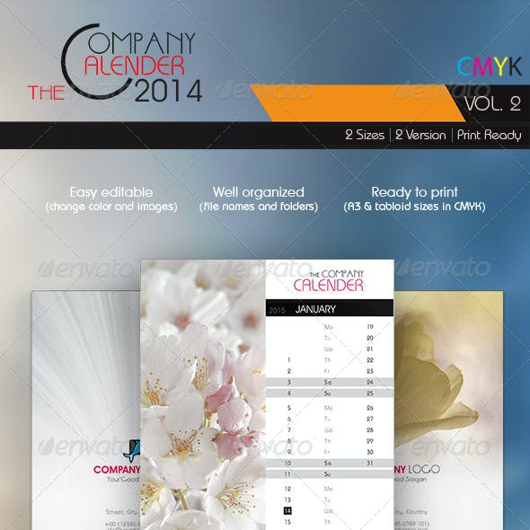The Company Calender 2014 Vol. 2